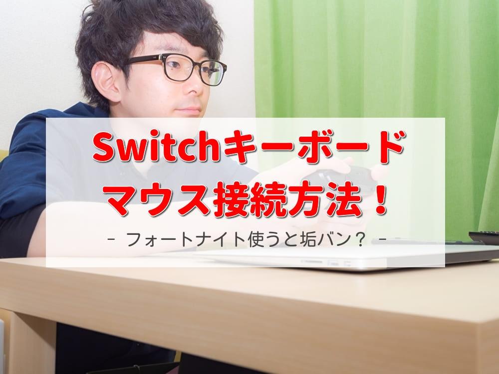 switchキーボードマウス接続方法!フォートナイト使うと垢バン?